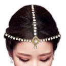 Soha Fashion Crystal Stone Gold Plated Maang Tikka