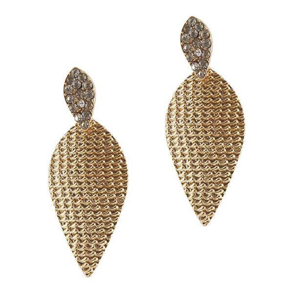 The99Jewel Stone Gold Plated Dangler Earring - 1306658