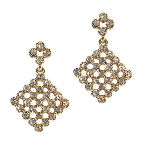 The99Jewel Austrian Stone Gold Plated Dangler Earring - 1306709