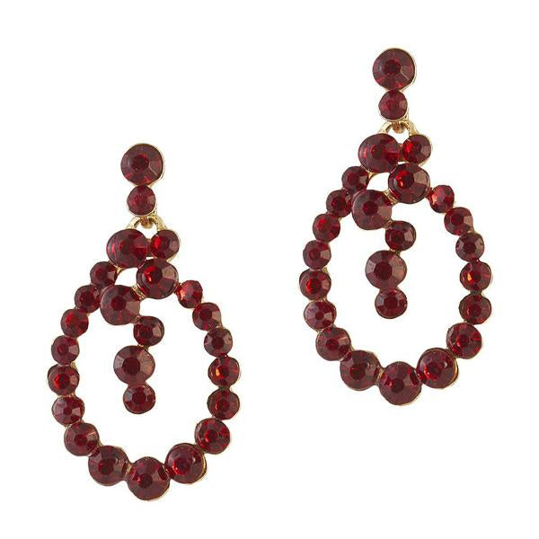 The99Jewel Austrian Stone Gold Plated Dangler Earring - 1306724