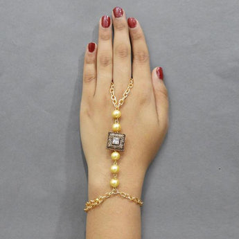 Tip Top Fashions Austrian Stone And Pearl Hand Harness - 1503115