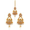 Sai Raj AD Stone Copper Dangler Earrings - FAP0163