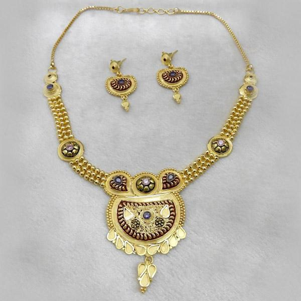 Neu Gold Forming Gold Plated Copper Necklace Set - 1107871