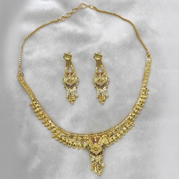 Neu Gold Forming Gold Plated Copper Necklace Set - 1107877