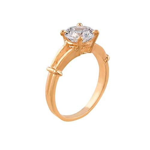 I Jewels CZ Solitaire Ring for Women ( FL38)