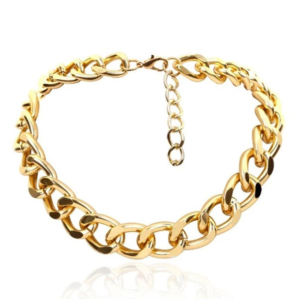 NitAgni Gold Chunky chain Necklace