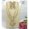 Om Creation Gold Plated Desginer Pearl And Kundan Long Necklace Set  - OmNek08