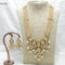 Om Creation Gold Plated Desginer Pearl And Kundan Long Necklace Set  - OmNek13