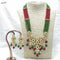 Om Creation Gold Plated Desginer Pearl And Kundan Long Necklace Set  - OmNek17