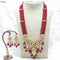 Om Creation Gold Plated Desginer Pearl And Kundan Long Necklace Set  - OmNek18