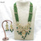 Om Creation Gold Plated Desginer Pearl And Kundan Long Necklace Set  - OmNek20
