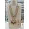 Om Creation Gold Plated Desginer Pearl And Kundan Long Necklace Set  - OmNek25