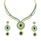 The99Jewel Austrian Stone Gold Plated Necklace Set - 1101335