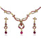 The99Jewel Gold Plated Pink Austrian Stone Necklace Set