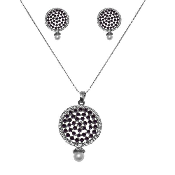 The99Jewel Silver Plated Austrian Stone Pendant Set - 1200424