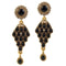 14Fashions Kundan Antique Gold Plated Dangler Earrings - 1304902