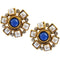 14Fashions Blue Austrian Stone Stud Earrings - 1304915