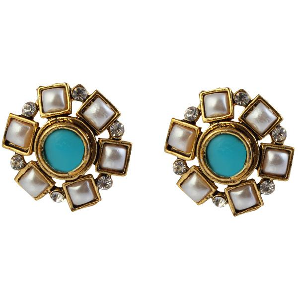 14Fashions Blue Austrian Stone Stud Earrings - 1304919