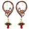 Kriaa Red Austrian Stone Gold Plated Ear Cuffs