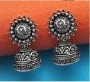 Jeweljunk Oxidised Plated Jhumki Earrings - 1315009