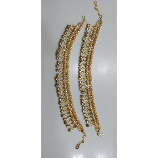 Tip Top Jewellers Gold Plated Pearl Payal - TTJPAYALCE01