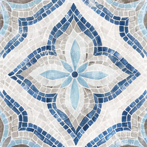 Blue Single Morrocan Tile by Eva Watts | Liquid Acrylic Art