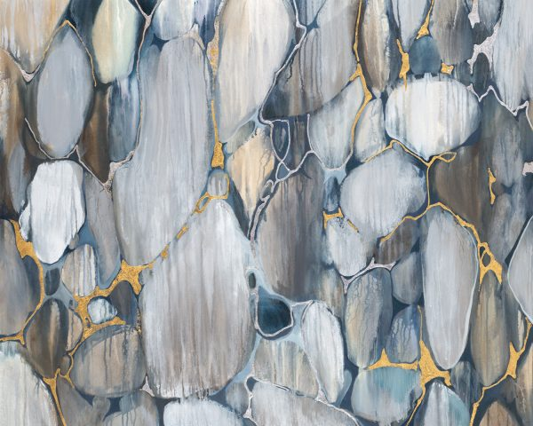 River Rocks by Liz Jardine | Liquid Acrylic Art