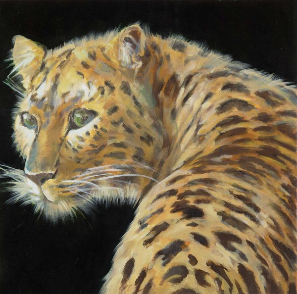 Green-Eyed Leopard by Liz Jardine | Liquid Acrylic Art