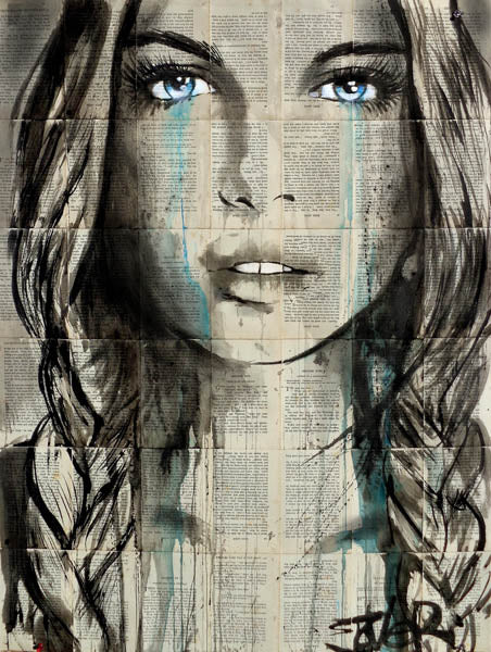 Blue Shore by Loui Jover| Liquid Acrylic Art