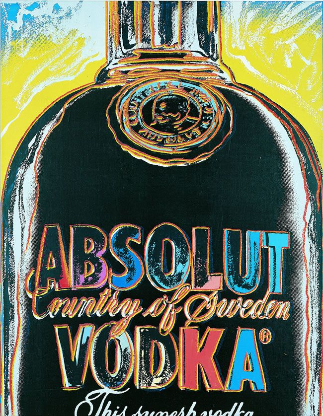 Andy Warhol's Absolut | Liquid Acrylic Art