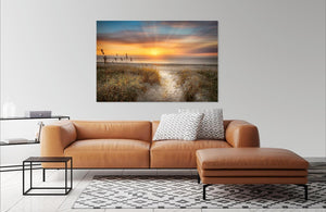 Sandy Walk At The Dunes by Celebrate Life Gallery | Liquid Acrylic Art