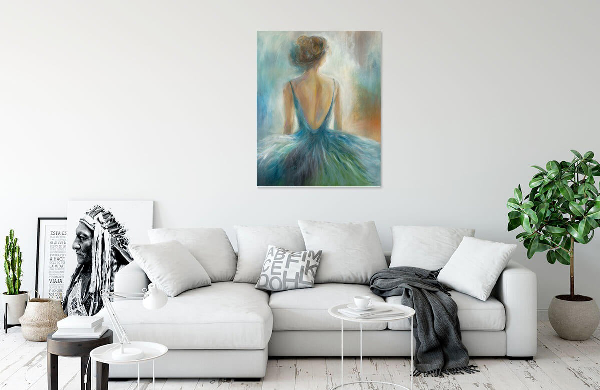 Lady in Blue by K. Nari | Liquid Acrylic Art