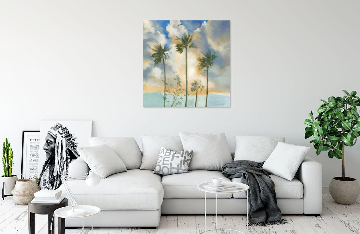Palms in the Wind by Liz Jardine | Liquid Acrylic Art