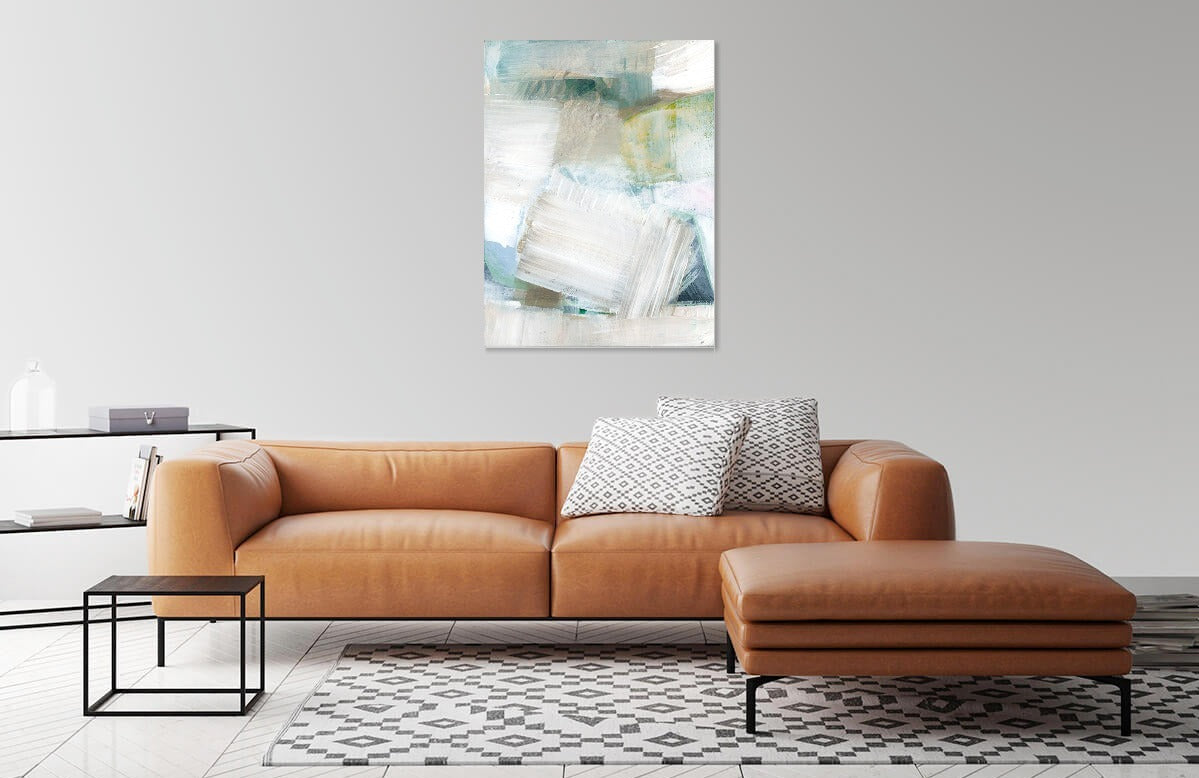 White Blues by cartissi | Liquid Acrylic Art