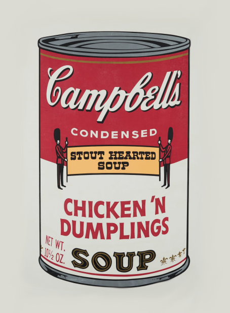 Andy Warhol's Campbell's Soup | Liquid Acrylic Art