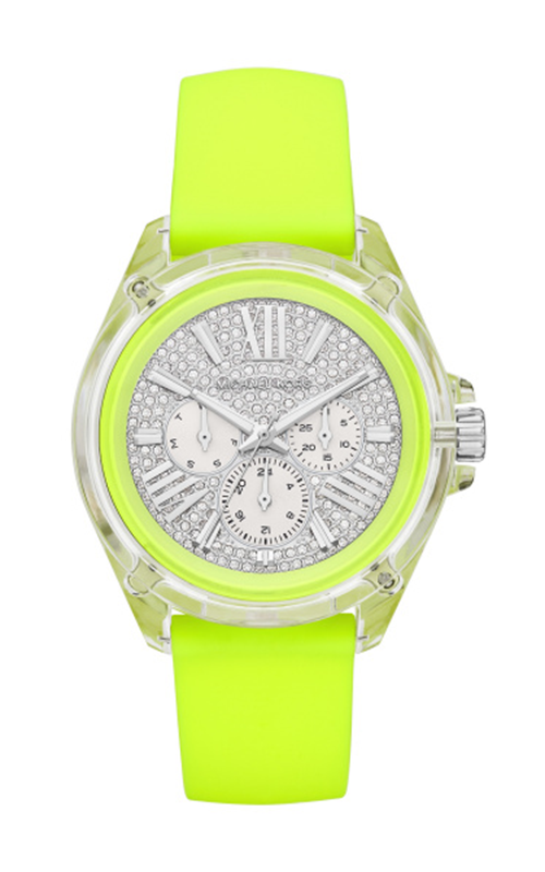 Michael Kors Women's Wren Pavé Neon Watch