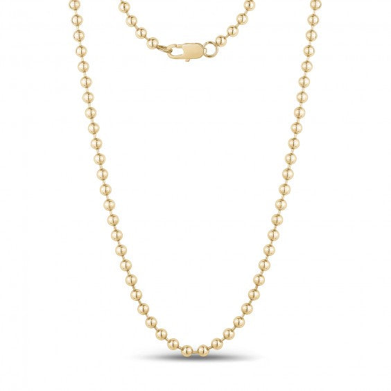 ARZ 4mm Gold Steel Beaded Ball Chain