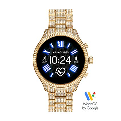 Michael Kors Lexington Pavé Gold-Tone Smartwatch
