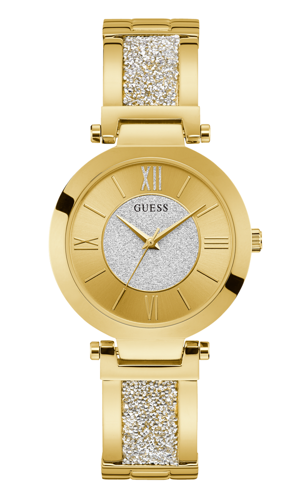 Guess Women's Crystal Bangle Analog Watch