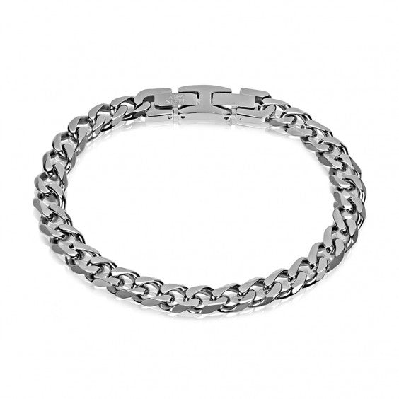 ARZ Men's 8mm Cuban Link Steel Bracelet