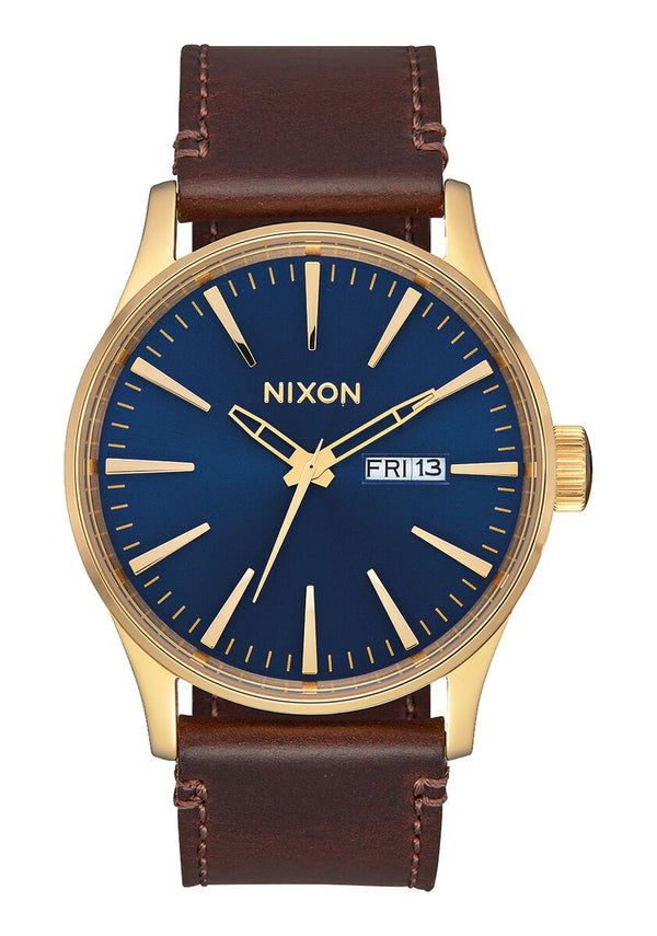 Sentry Leather Polished Gold / Navy
