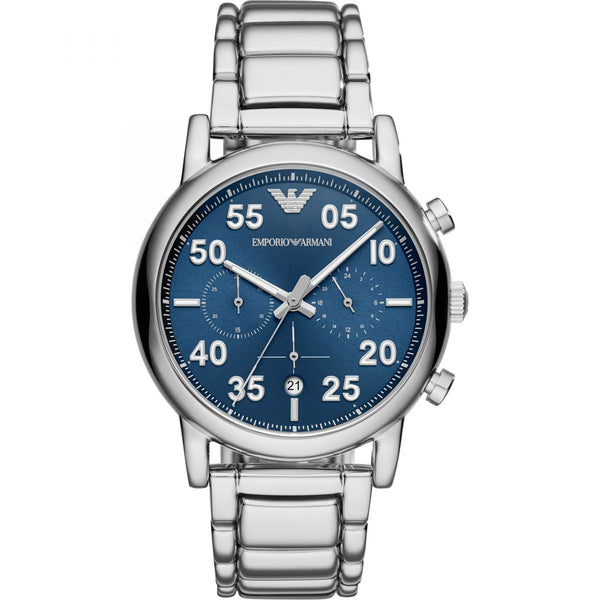 Emporio Armani Men's Three-Hands Stainless Steel Watch
