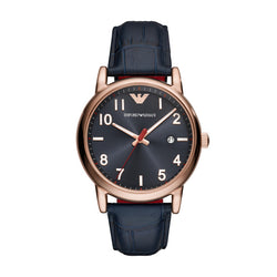 Emporio Armani Men Three-hands Leather Watch