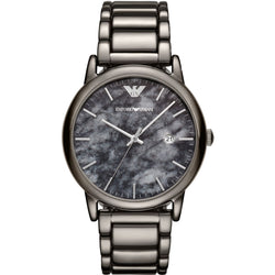 Emporio Armani Men's Marble-effect Dial and Three-chain Strap watch
