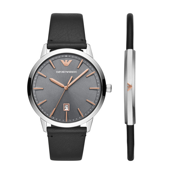 Emporio Armani Men's Ruggero Watch Gift Set