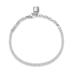 Desideri Women's CZ Lock Friend Tennis Bracelet