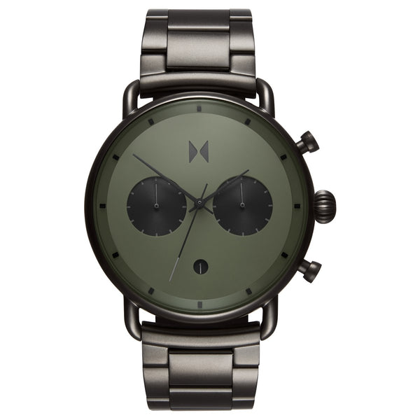 MVMT Men's Blacktop Rallye Green Gunmetal Watch