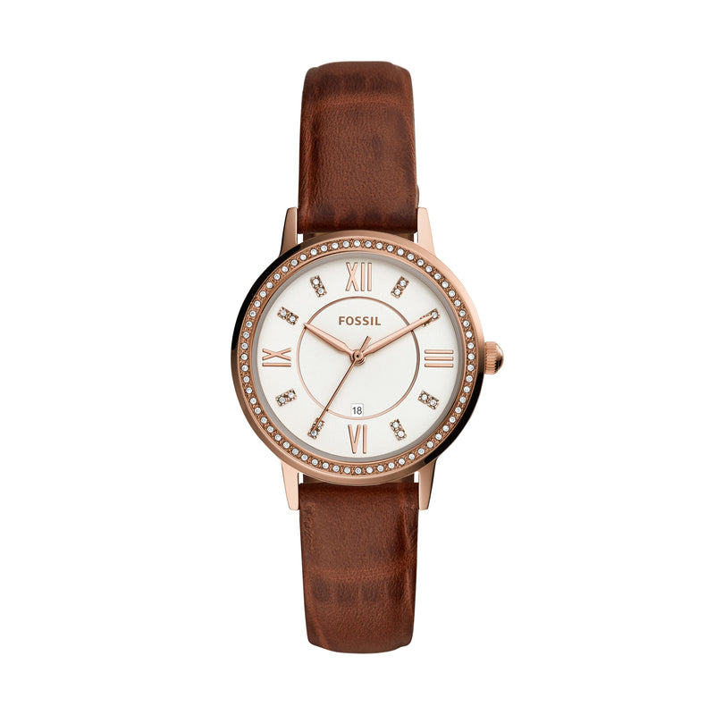 Fossil Women's Gwen Three-Hand Date Leather Watch