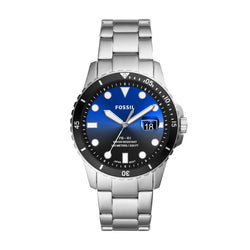 Fossil Men's FB-01 Three-Hand Date Stainless Steel Watch