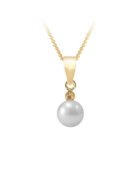 Bfly 10k Gold Pearl Pendant